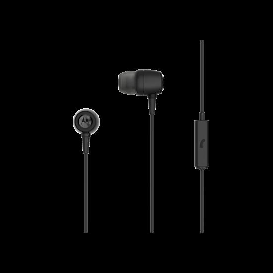 Motorola METAL EARBUDS SLÚCHADLÁ S MIKROFÓNOM / ČIERNE
