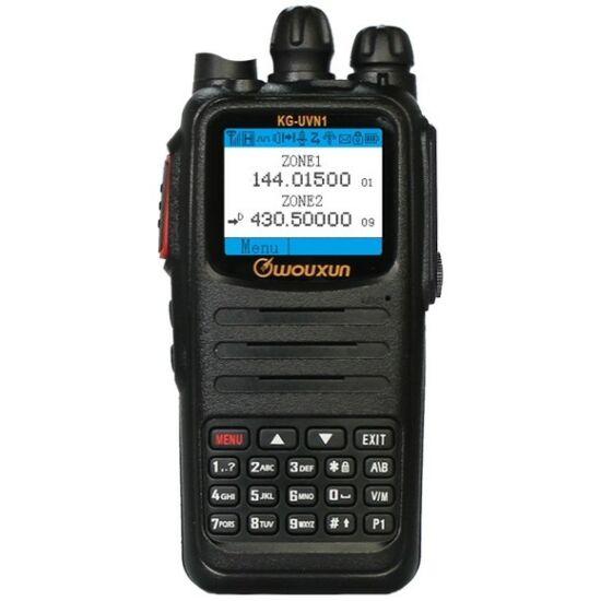 WOUXUN KG-UVN1 VHF/UHF ANALÓGOVÁ FM a DIGITÁLNA DMR RÁDIOSTANICA VYSIELAČKA